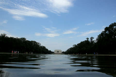 View of Lincoln Memorial Stock Photo