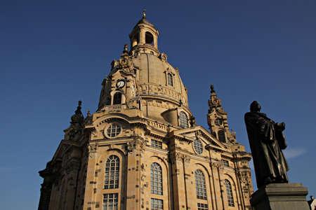Frauenkirche in Dresden Banco de Imagens