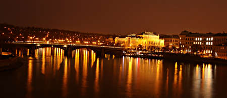 view from Charles Bridge in Prague 스톡 콘텐츠