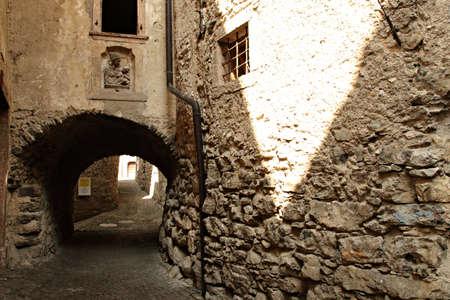 street in Ville del Monte near Lake Garda