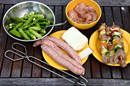 preparing for BBQ Stock fotó