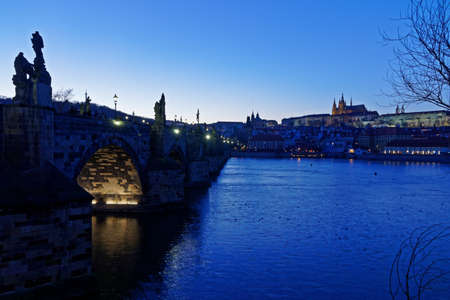 view to Charles Bridge in Prague