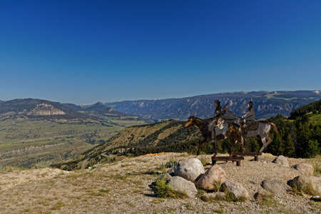 View from dead indian summit overlook in Wyoming