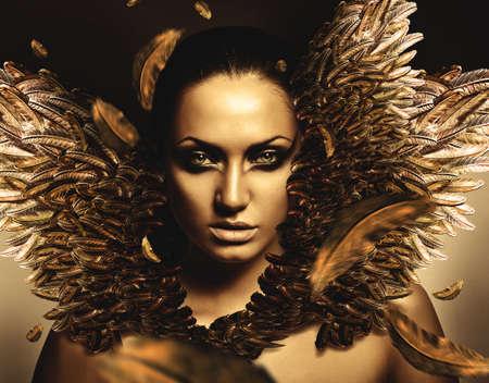 phoenix bird: sexy brunette phoenix woman