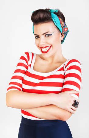 energetic beautiful smiling woman  photo