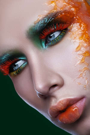 male beauty makeup multicolor photo