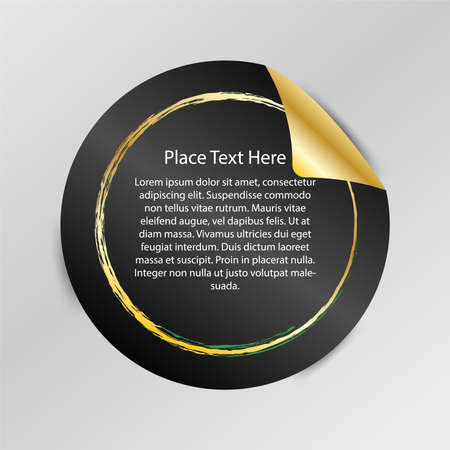 Gradient Tag, Peel Off Sticker, Space For place Your text, Used for price tag, Promotion, Web Decoration, Vector Illustration Ilustração