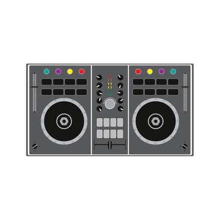 DJ remote for playing and mixing music. Vector illustration. Ilustração Vetorial