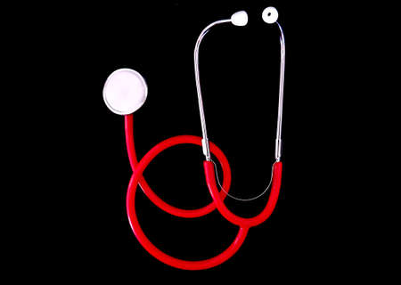 colorful stethoscope in black background