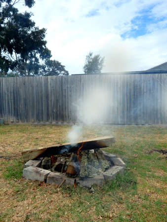 lots of smoke day bonfire