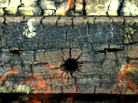 Small bullet hole on and ancient piece of oak wood