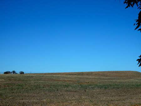 Farm land horizont landscape view