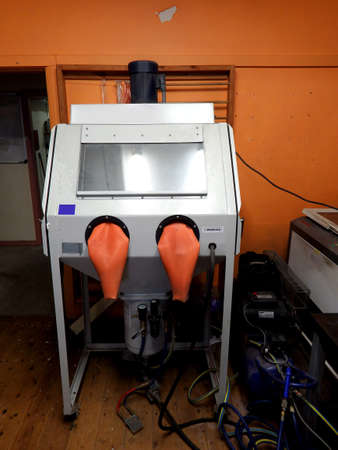 Sand Blasting system machine with protective gear