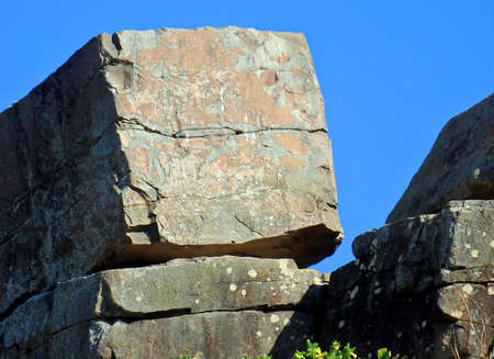 square cubical rock of sandstone