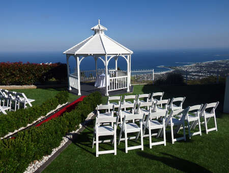 Small elegant wedding cerimony gazebo Stok Fotoğraf