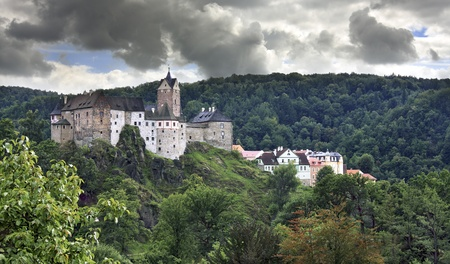 Old castle and fortress at Loket (Czech Republic, Bohemia) Stock Photo - 12290708