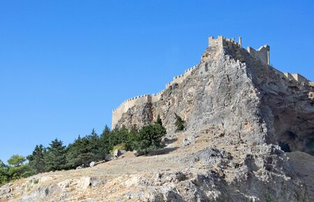 fortify: Lindos ancient castle at Rhodes Island