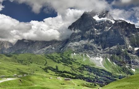 Alpine scenic view, Grindelwald (Switzerland)