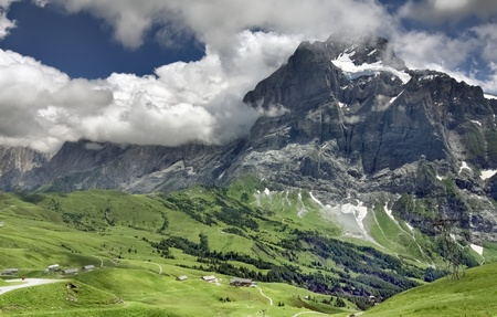 Alpine scenic view, Grindelwald (Switzerland) photo