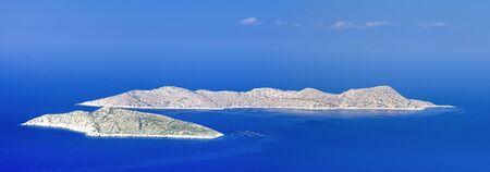 View of two islands  in Aegean Sea near Rhodes  Greece