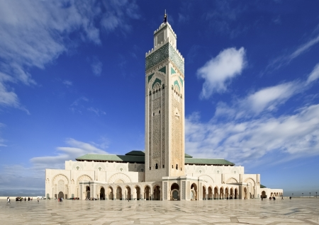 Great Mosque of Hassan II at Casablanca  Morocco