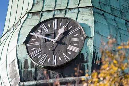 Old clock on steeple of cathedral Stock Photo - 12682265