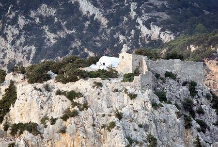 Old chapel in Monolithos castle, Rhodes Island  Greece Stock Photo - 12682275