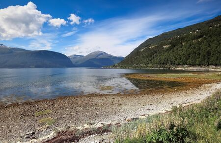 alesund: Scenic view of mountain lake at Alesund area  Norway
