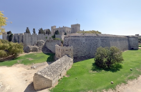 Scenic view of fortress in medieval city, Rhodes  Greece Stock Photo - 12682308