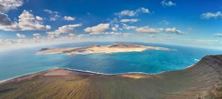 Panoramic view of La Graciosa Island, Canary Islands  Spain  photo