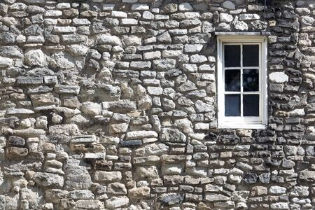 Fragment of the Tower fortress at London with window Stock Photo
