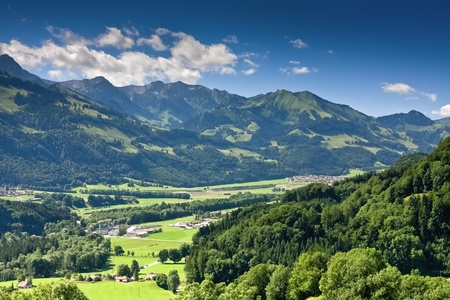 Scenic rural landscape, Gruyere  Switzerland