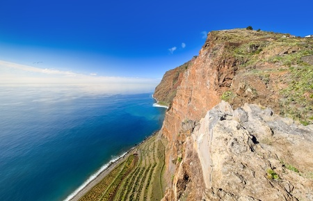 Scenic view of Cabo Girao cliff, Madeira Island (Portugal)