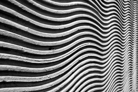 soltería: Superficie de la pared ondulada con una sola hoja