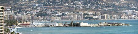 Panoramic views of embankment, Fuengirola  Spain