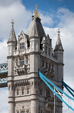 Fragment of Tower Bridge at London  UK  Stock Photo - 12995451