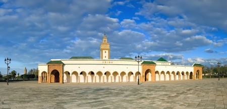 Royal mosque at Rabat (Morocco), also known as  mosque Ahl Fas. Panorama of 6 vertical frames
