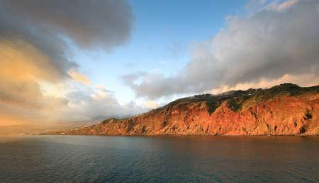Fragment of sunset landscape, Madeira island (Portugal)