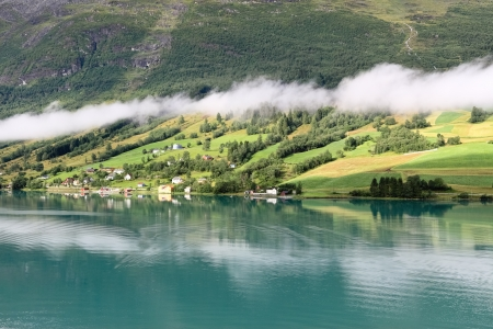 olden: Early morning at Nordfjord, Olden (Norway)