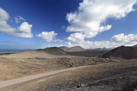 Volcanic landscape of Lanzarote Island (Canary Islands, Spain) photo