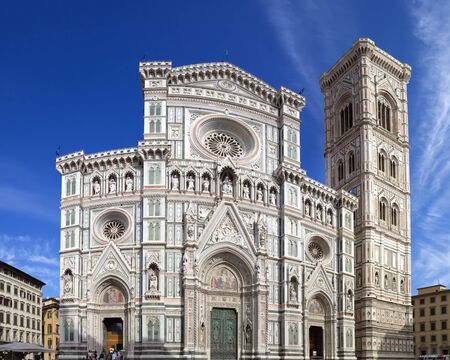 Cathedral of Santa Maria del Fiore, Florence (Italy). Image assembled from few frames Stock Photo - 17565460