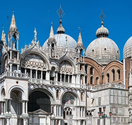 saint marco: Basilica of San Marco, Venice (Italy). Image assembled from few frames