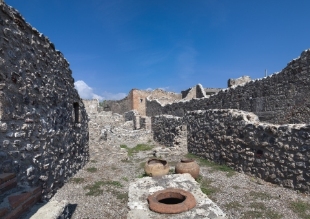 Ruins of ancient town, Pompeii  Italy   Image assembled from three vertical frames