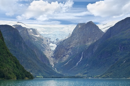 jostedal: Scenic view of Jostedalsbreen glacier (Norway)