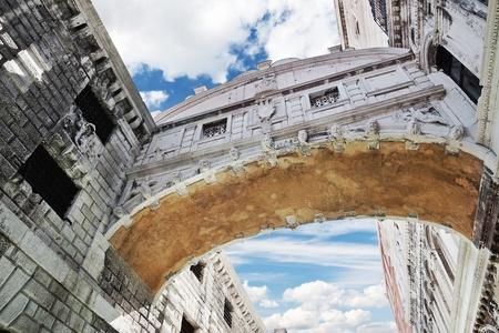 The famous Bridge of Sighs, Venice (Italy) Stock Photo