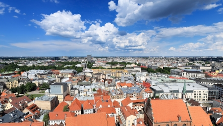 Bird s eye view of the city, Riga  Latvia