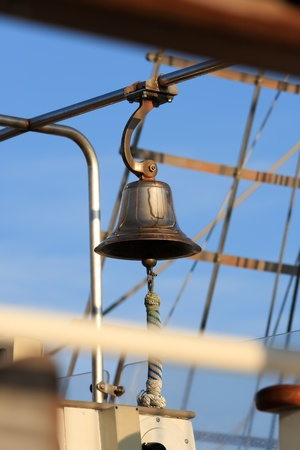 The ships bell on an old sailing vessel