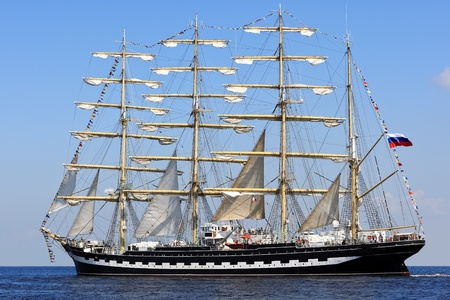 Scenic view of sailing ship at the Baltic Sea photo