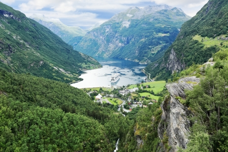 Scenic view of Geirangerfjord from Dalsnibba view point (Norway)