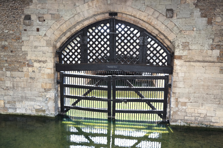 View of the Traitors Gate from inside the castle, Tower of London  UK  photo